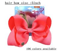 """Drop Shipping 25pcs / Jojo Swia 5 """"Grosgrain Ribbon Capelli archi, accessori per capelli per neonate con clip, arco di capelli Bowknot Headwear per bambini"""
