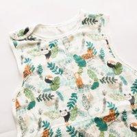 Sleeping Warm Cotton Newborn Sleeveless Printing 0-7year70% Kids Bag Bear Baby Cartoon Bamboo+30% Sleeping Bag Muslin Pattern S2 Jrahv