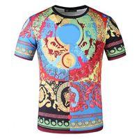T-shirt Hommes Haute Qualité Hommes Couples Casual 3 D Impression T-shirt à manches courtes à manches courtes