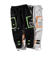 Mens Fashion Cargo Pants Hip Hop Street Pants Ins Hot Sell Patchwork Pants Male Sesaons Clothing