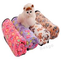 Paw Print Pet Blanket Puppy Pet Blanket sommeil tapis de tapis d'hiver doux et chaud molleton de chat de chien de sommeil Throw Couvertures Animaux Fournitures DBC BH2860