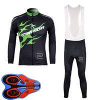 Merida 팀 사이클 긴 소매 유니폼 턱받이 바지 야외 스포츠 망 의류 도로 자전거 편안한 U82911
