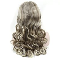 Synthetic Hair Curly Long Brown Mixed Blonde Women Cosplay W...