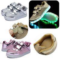 Light Up LED Trainers Sneakers USB Charging Toddler Kid Boy ...