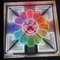 광저우 공장 사용자 정의 태양 미소 얼굴 네온 표지판 맥주 바 펍 파티 스토어 홈 룸 벽 장식 50 * 50cm