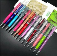 Criativo DIY em branco caneta esferográfica Student Glitter escrita canetas canetas bola de cristal colorido