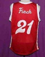 Seltene Männer Jugend Frauen Vintage Larry Finch Red Sounds Retro 1972-74 Home # Basketball Jersey Größe S-5XL oder Benutzerdefinierte Name oder Nummer Jersey