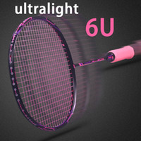 Super Light 6U Carbon Badminton Rackets Professional Offensi...