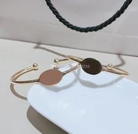 di rame classica semplice braccialetto aperto di metallo C catena mano avanti con il bollo, per la raccolta signore articoli di moda di design di lusso regalo braccialetto vip