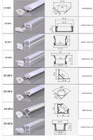 CLAITE 50 centimetri Holder U V YW tri Canale di alluminio di stile per LED Light Strip bar sotto lampada del Governo Kitchen 1,8 centimetri largo