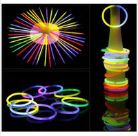 Glow Stick Bracelet Necklaces Party Light Stick Wand Flashin...