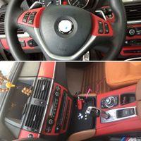 Para BMW X5 E70 / E71 X6 2007-2014 auto adhesivo etiquetas engomadas del coche 3D 5D fibra de carbono pegatinas de vinilo para automóviles y las etiquetas del coche accesorios de estilo