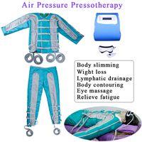 máquina da presoterapia Máquina de drenagem linfática de pressão de ar massagem infravermelho Máquina de desintoxicação linfática de drenagem linfática corpo inteiro emagrecimento