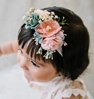 여자는 스테레오 시뮬레이션 꽃 공주 머리띠 아기 사진은 아이들 생일 파티 헤어 액세서리 F9994 소품 여자 머리띠