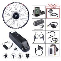 삼성 세포 내장 12AH 배터리와 함께 E-자전거 전면 허브 모터 48V 500W 팔방 브러시 기어 전기 자전거 변환 키트