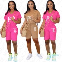 Women Summer Clothes Tracksuit T Shirt + Shorts Pants Two Pi...