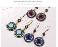 Bohemian Ethnic Wind Earrings sunflower girls fashion jewelr...
