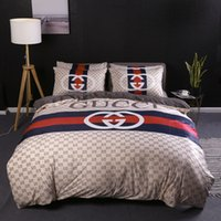 Europe Style Winter Bed Cover Sets Full Letter Logo High Qua...