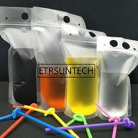 500pcs 250ml, 750ml, 1000ml plastica libera glassata Drink Packaging Borsa Custodia per bevande Juice Latte Caffè