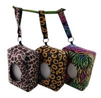 Неопрен ткани коробка Leopard Подсолнечное Zebra Printed Детская Влажная Протрите случае напольного перемещения бумажных коробок 120pcs OOA7293