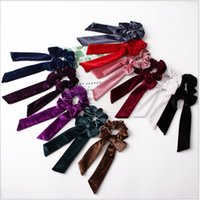 Hair Accessories for Women Girls Hair Scrunchies Bowknot Vel...