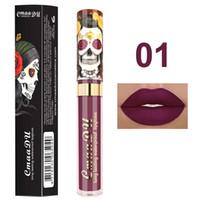 Nuevo maquillaje cmaadu mate 6colors líquido lápiz labial impermeable y duradera calavera tupe lápiz labios labios maquillaje lipgloss