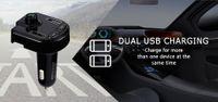 BT36 Bluetooth per auto Lettore MP3 Trasmettitore FM wireless Riconoscimento della tensione di chiamata a doppio vivavoce USB