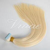 14 a 26 polegadas 100g Natural Color Duplo Drawn seda peruca Pele trama 100% Tape Virgin Remy Europeia na extensão do cabelo