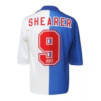 Rétro 94-96 Blackburn Rovers Football Maillots Shearer Sutton Vintage Football Camisetas Futbol Camisas Shirts Kit classique
