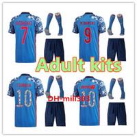 2020 2021 Japonya Futbol Forması Kiti Karikatür Numarası Üniforma 18/19/20 Kaptan Ozora Tsubasa Okazaki Atom Japonya Özel Futbol Gömlek Kitleri