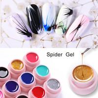 2019 fashion 5ml Disegno Silk Spider Gel Nail Liner Pittura Lacca Gel Tirare Filo Vernice Decorazione Art Smalto
