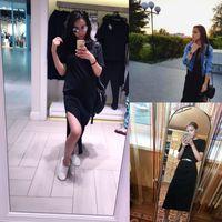 Maxi camicia vestito donna autunno inverno spiaggia sexy elegante casual casual all'Ucraina fasciatura lavorato a maglia nero boho bodycon alla caviglia abiti plus size