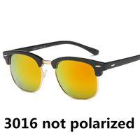 Марка 3016 очков Новых половины кадра очки женщина мужчины cllubMaster солнцезащитные очки на открытом воздухе вождения дизайнерских очков не UV400 очков не коробки
