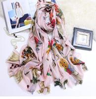 Sciarpa di lusso Desginer di marca Splendida Sciarpa di cashmere Sciarpe di moda da donna Spessa marmitta invernale Scaldacollo Stampa floreale CHIC POP Sciarpa di design