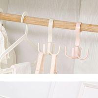 4 الملابس خطاف توفير مساحة خزانة شماعات المشبك حامل خزانة الملابس معطف الرف حامل 4 الملابس خطاف