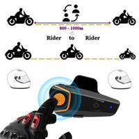 Moto-S2 PRO Écouteurs de moto Headset de casque de casque sans fil Bluetooth Interphone Interphone 1000m Intercomunicador Moto FM S2