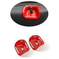 Pour Suzuki Jimny 07-15 2pcs Verrouillage de voiture Verrouille de voiture Bouton Bouton Bouton Bouton Rouge Abscover Garniture