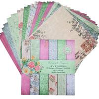 24Sheets Scrapbooking Pedler Kağıt Origami Sanatı Arkaplan Renkli Kağıt Kart Albüm Scrapbook Kağıt Hesap Kartı Dekoratif