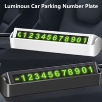 Universal Car temporaneo parcheggio carta telefonica Numero di carta piastra fluorescente Digita Hidden Numero di Telefono Auto Stop di Automobile