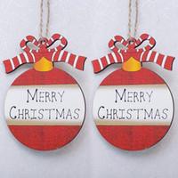 Adornos redondos de madera Etiquetas Carta Casa de los ciervos Adornos de Navidad Adornos Árbol Colgando Ornamento Decoración envío gratis