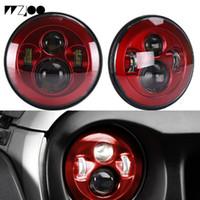 "Dla Lada Niva 4x4 Suzuki Samurai Toyota 7 ""LED DRL Halo Reflektory VAZ 21017 cal LED Reflektory z ringu Halo Amber Curry"