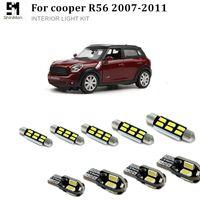 미니 쿠퍼 R56 액세서리에 대 한 9pcs X 오류 무료 LED 인테리어 조명 키트 패키지 2007-2011
