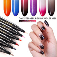2018 neueste 3 in 1 Gel Nagellack Pen Glitter One Step Nagelgelpoliermittel Hybrid 60 Farben einfach zu verwenden UV-Lack