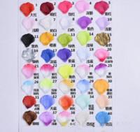 1000pcs / lot all'ingrosso di seta artificiale Petali di rosa Decorazioni della festa nuziale Eventi di nozze Accessori Fornitori 40 Colori