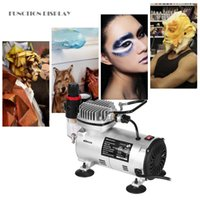 KKmoon Mini Compressor de Ar Profissional Gravity Feed Dual Action-Airbrush Piston Air Power Tool Compressor