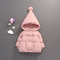 Mihkalev baby girls winter coats 2018 hoodies down jacket fo...