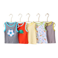 Baby clothes sleeveless vest 5 pieces pack of pure cotton su...
