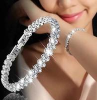 جديد الموضة الرومانية نمط المرأة سوار الاسوره كريستال أساور هدايا مجوهرات اكسسوارات رائعة السوار حلية قلادة