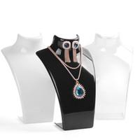 Pendientes de la manera 1pcslot zarcillos collar de la joyería Jewelry Show plástico Display