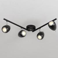 Semplice moderna Rotativi principali luce di soffitto Luster metallo Sala da pranzo ha condotto il soffitto luci di soffitto della lampada Loft Led Spot Light Fixtures